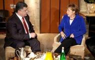 Порошенко в Милане встретился с Меркель