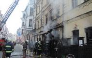 Пожар в столичном ресторане на Подоле тушили более двух часов