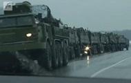 Журналисты засняли колонну военной техники РФ недалеко от Украины