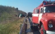 На дороге Киев-Одесса перевернулась автоцистерна с топливом
