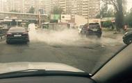 В Киеве прорвало трубопровод с горячей водой