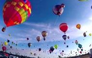 Во Франции запустили рекордное количество воздушных шаров