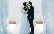 Британская пара сыграла свадьбу внутри ледника