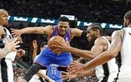 NBA: Оклахома бьет Сан-Антонио на выезде