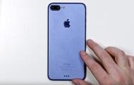 Голубой iPhone 7 впервые показали на видео