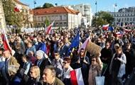 В Варшаве десятки тысяч человек вышли на антиправительственную акцию