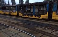 В киевском депо сгорел новый трамвай