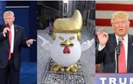 В Китае установили статую петуха, похожего на Трампа