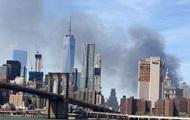 В Нью-Йорке горит небоскреб на Манхэттене