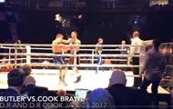 Боксер получил ведром по голове после победы нокаутом