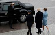 В США кидали камнем в машину Трампа