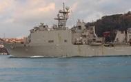 Американский десантный корабль зашел в Черное море