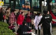 В Китае автобус въехал в толпу людей