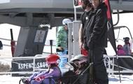 Внук Трампа поломал ногу во время катания на лыжах