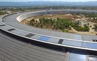 Дрон снял новую гигантскую штаб-квартиру Apple
