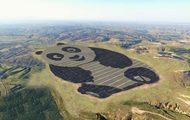 В Китае построили солнечную электростанцию в форме панды