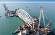 Арку Крымского моста начали ставить на опоры
