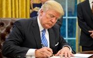 Bloomberg: Трамп подписал санкции против России