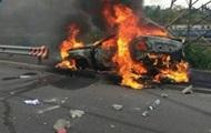 В Киеве при ДТП взорвался автомобиль