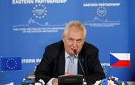 Чехи извиняются за слова Земана о Крыме – посол