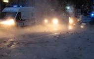 В Киеве улицу возле радиорынка залило кипятком