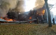В Киевской области горит детская спортивная школа