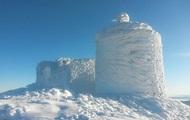 Заснеженную обсерваторию Карпат показали на фото
