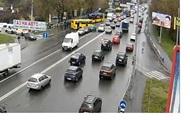 В Киеве столкнулись четыре авто и маршрутка