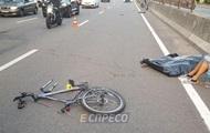 Иностранец на BMW сбил насмерть велосипедиста в Киеве